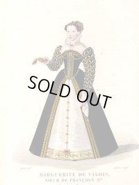 フランスセレブファッション「Marguerite de Valois」、1827年作、