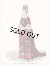フランスセレブファッション「La Duchesse de Bourgogne」、1827年作、