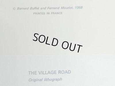 画像2: ビュッフェのリトグラフ1968年作「The  village road」