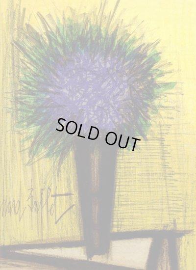 画像1: ビュッフェのリトグラフ1968年作「The purple bouquet of flowers」