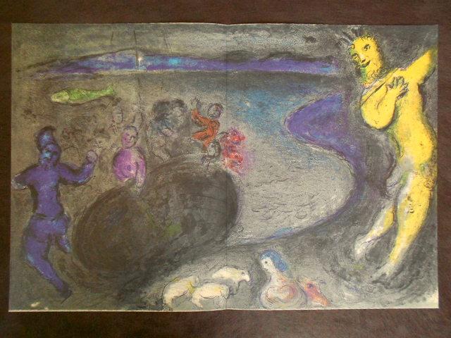 画像1: シャガール、Marc Chagall オフリトグラフ 「ダフニスとクロエー」第2巻,328