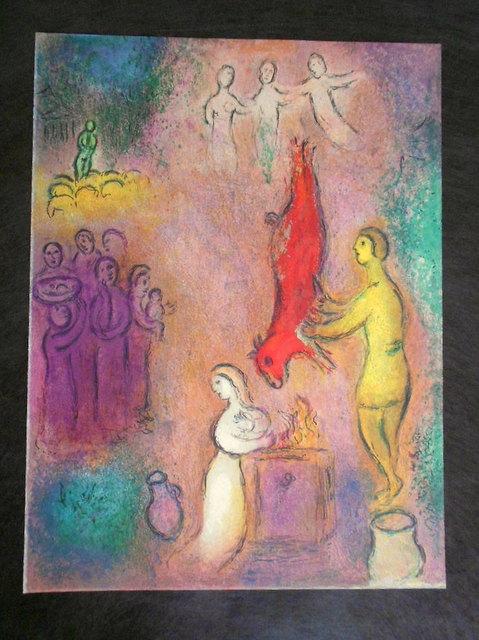 画像1: シャガール、Marc Chagall オフリトグラフ 「ダフニスとクロエー」第2巻,330