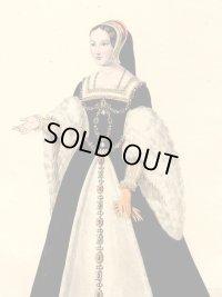 フランスセレブファッション「La Reine Claud」、1827年作、